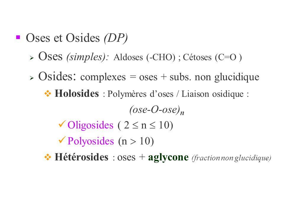 §Formule brute C n (H 2 0) p (hydrates de carbone).