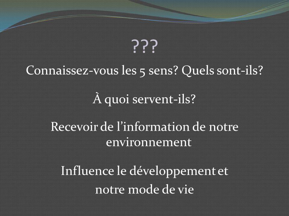 La vision (suite) 4 ème : conducteur de linflux : Nerf optique Propage linflux jusquau cerveau 5 ème : Analyseur : Cerveau