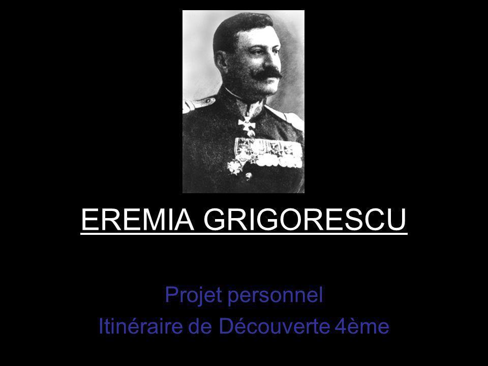EREMIA GRIGORESCU Projet personnel Itinéraire de Découverte 4ème