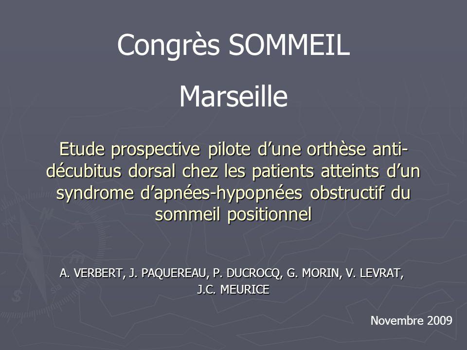 Etude prospective pilote dune orthèse anti- décubitus dorsal chez les patients atteints dun syndrome dapnées-hypopnées obstructif du sommeil positionn