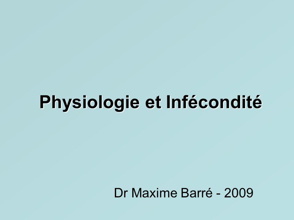Physiologie et Infécondité Dr Maxime Barré - 2009