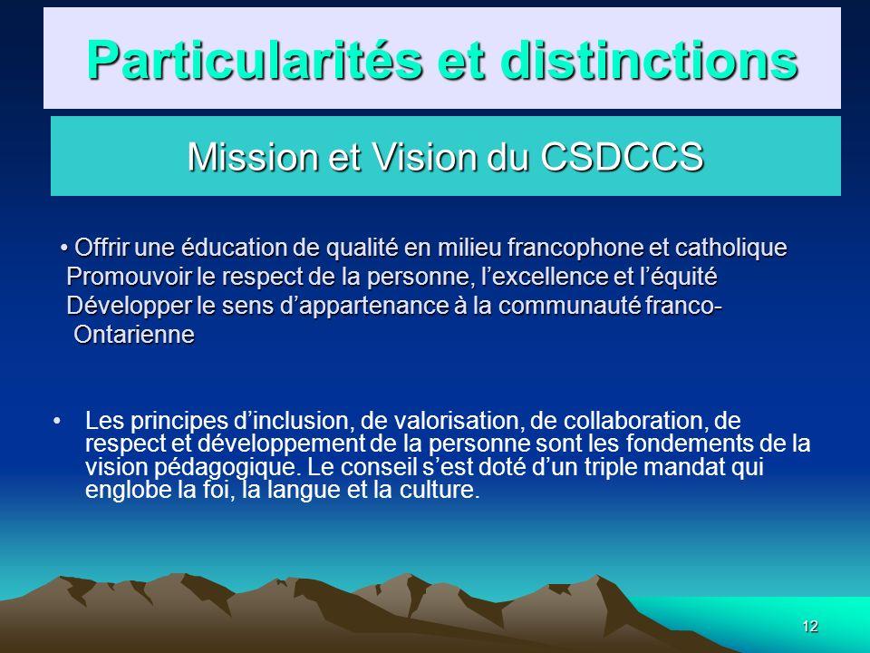 12 Les principes dinclusion, de valorisation, de collaboration, de respect et développement de la personne sont les fondements de la vision pédagogiqu