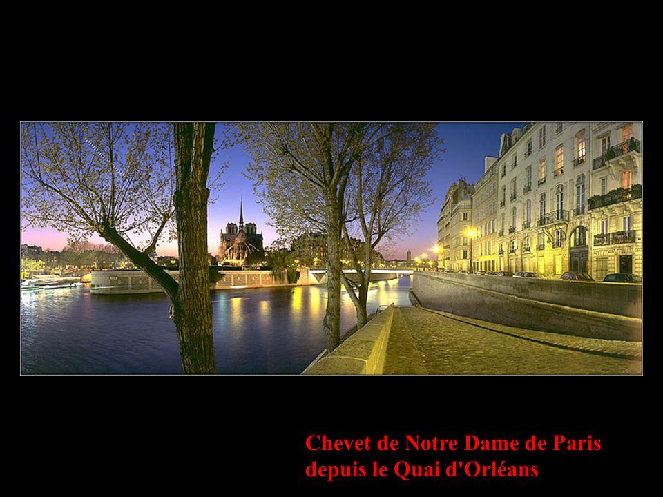 Chevet de Notre Dame de Paris depuis le Quai d'Orléans
