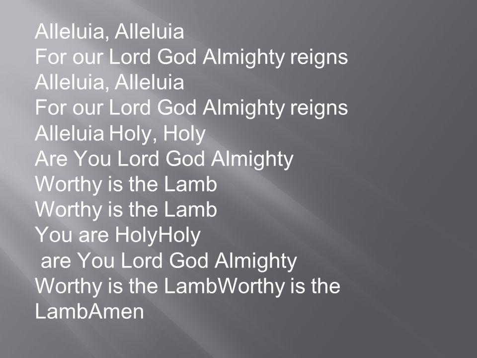 Le Feu est allumé aujourdhui Allumé et cela pour toujours Le Saint Esprit est descendu sur nous Chantons Alleluia, le feu est allumé Chantons Alléluia, le feu est allumé TDM