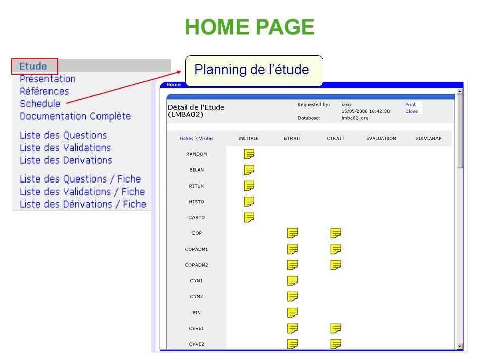 13 HOME PAGE Planning de létude