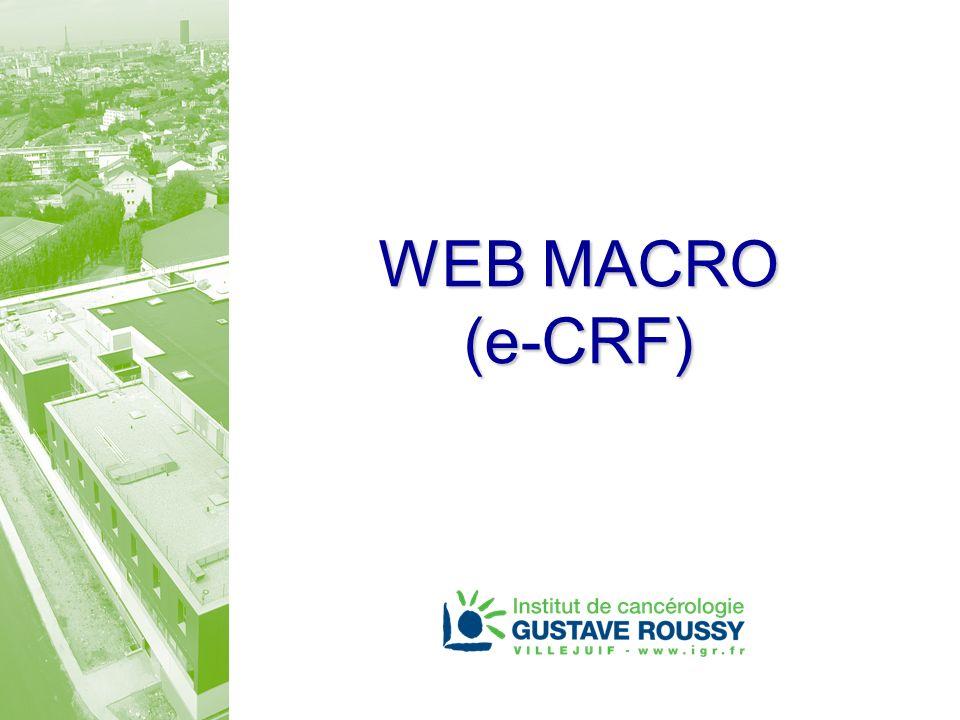WEB MACRO (e-CRF)
