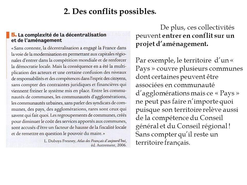 II.Une décentralisation créant des inégalités entre échelons.
