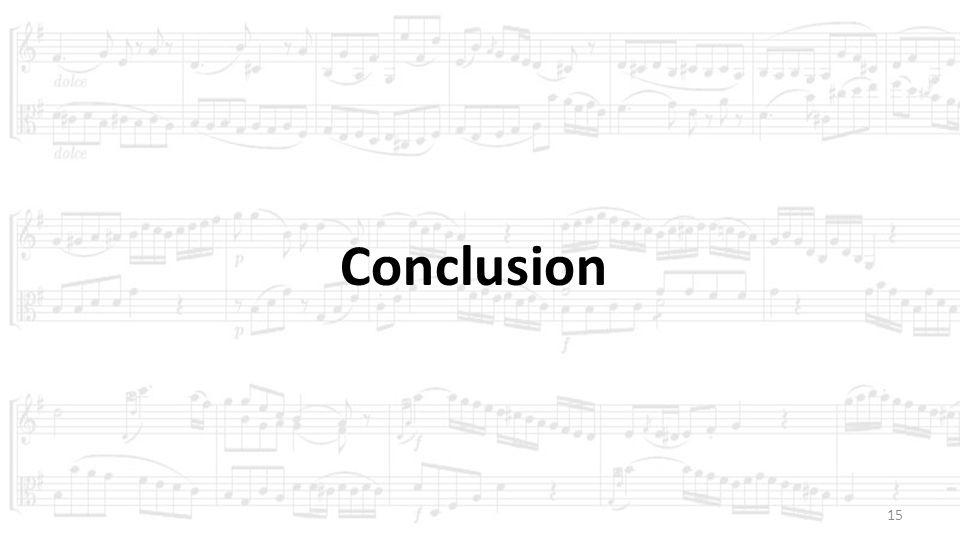 15 Conclusion