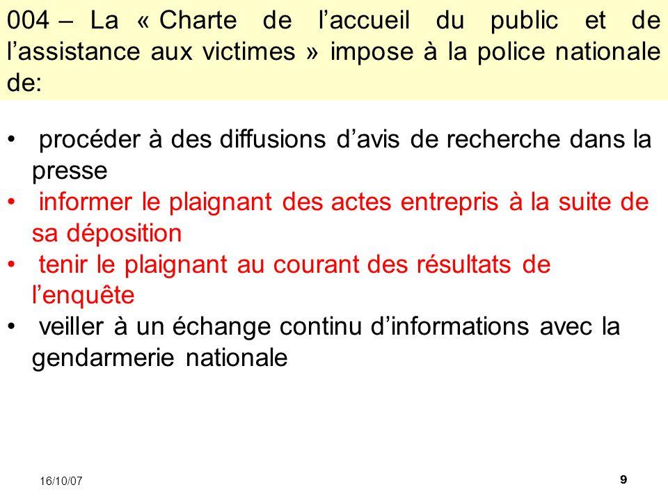 60 16/10/07 A.larticle 3 de la Convention européenne de sauvegarde des droits de lhomme B.