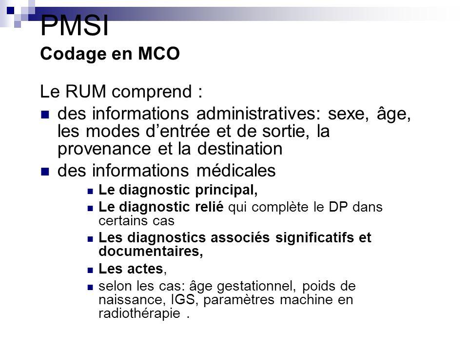 Le PMSI Les nomenclatures Pour les morbidités et facteurs influençants l état de santé La CIM : 22 chapitres couvrant l éventail des états morbides classés par organe et appareil fonctionnel.