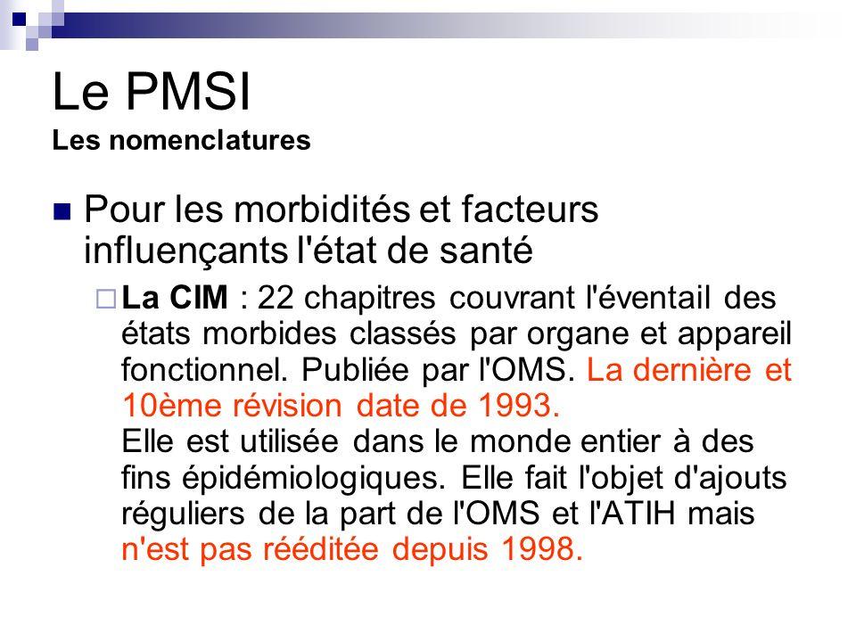 PMSI Les nomenclatures La CCAM: classification commune des actes médicaux.
