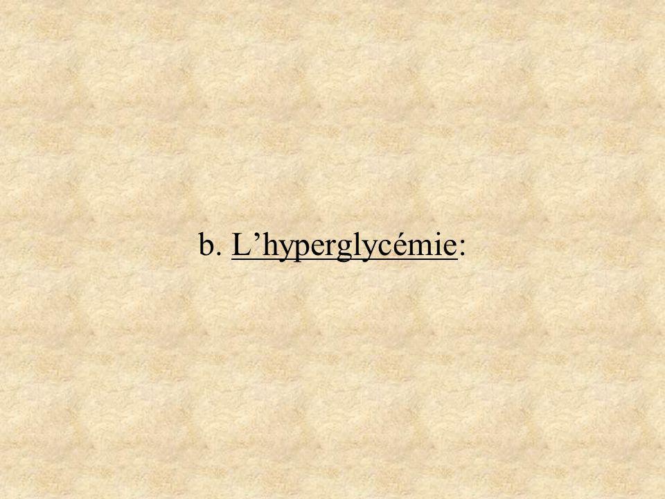 b. Lhyperglycémie: