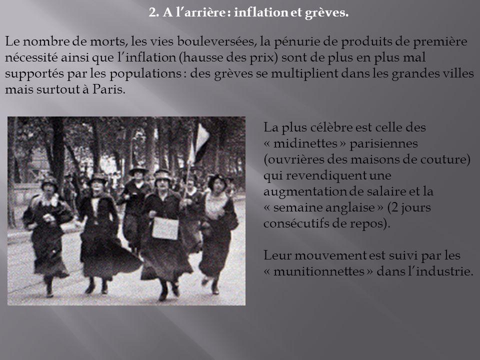 2.A larrière : inflation et grèves.