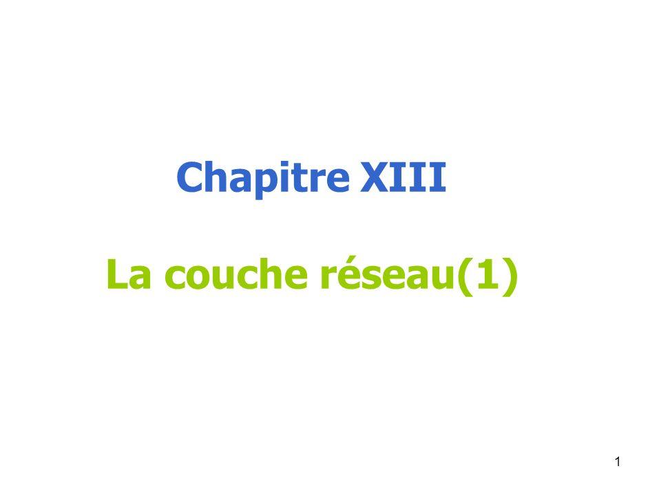 Chapitre XIII La couche réseau(1) 1