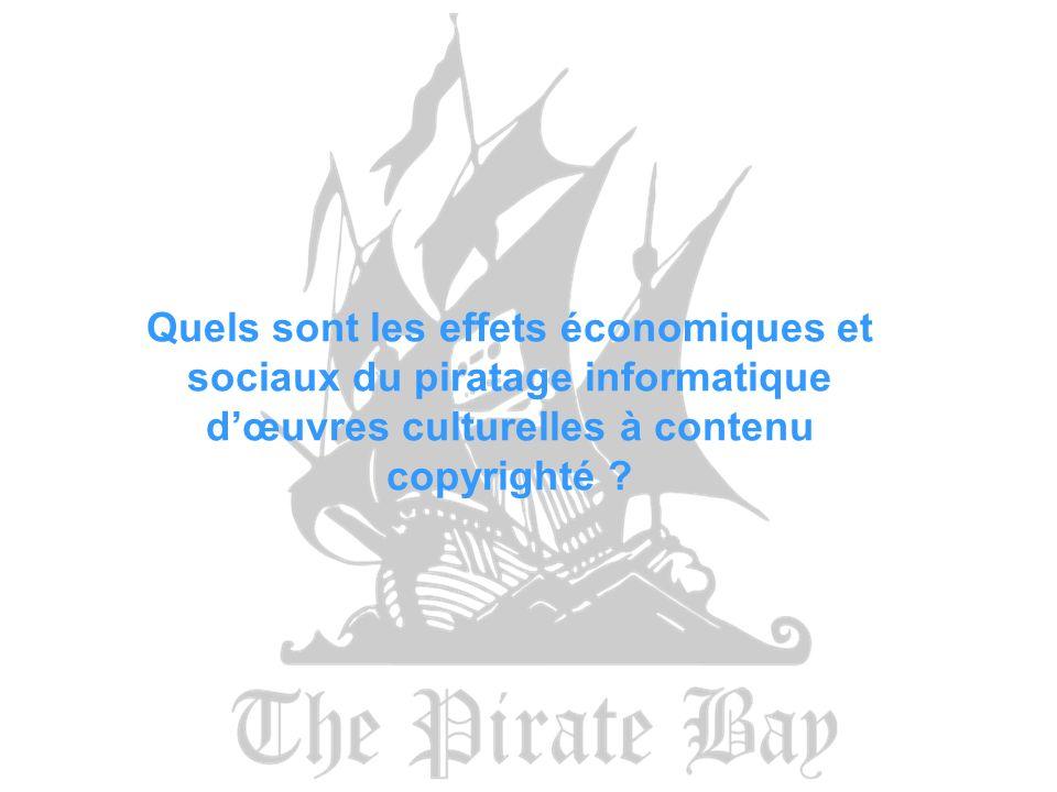 Quels sont les effets économiques et sociaux du piratage informatique dœuvres culturelles à contenu copyrighté