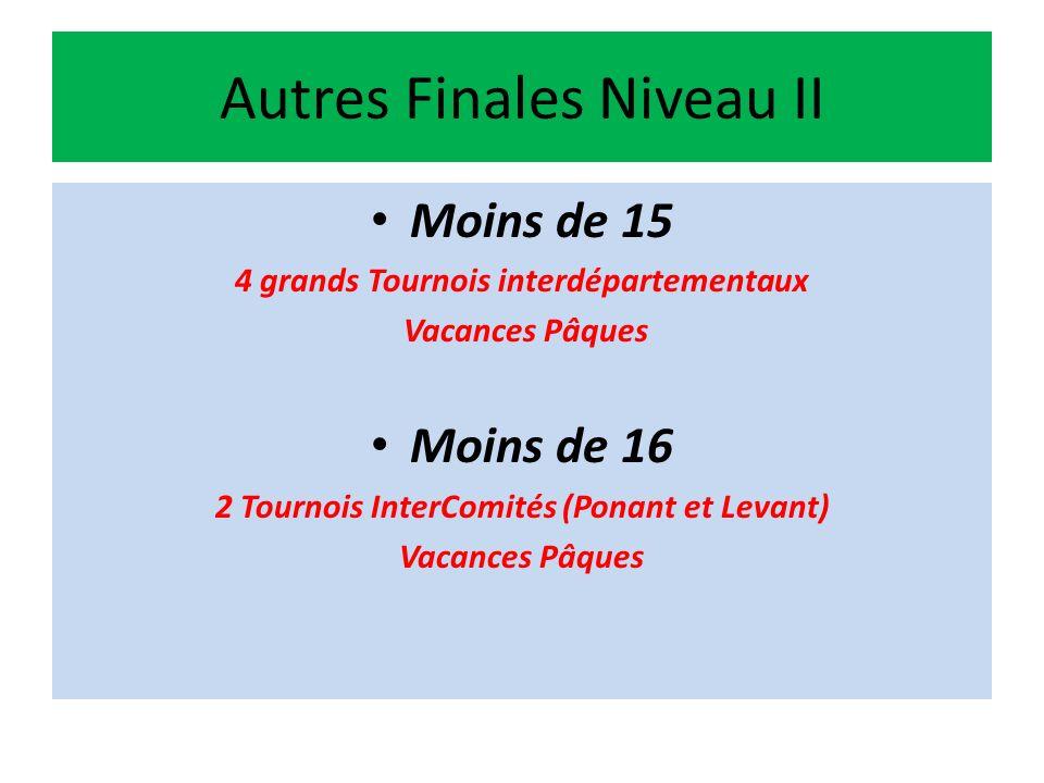 La Journée de la Formation Française Le week-end de la finale Top 14 à Paris 29 Mai 6 Finales Finales Niveaux III et Finales Niveaux II Moins de 17 Niveaux II et III (2 Finales) Moins de 18 Niveaux II et III (2 Finales) Moins de 19 Niveaux II et III (2 Finales)