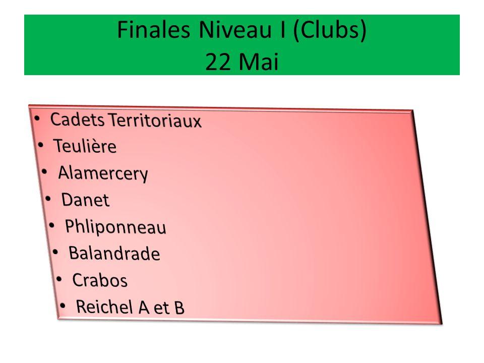 Autres Finales Niveau II Moins de 15 4 grands Tournois interdépartementaux Vacances Pâques Moins de 16 2 Tournois InterComités (Ponant et Levant) Vaca