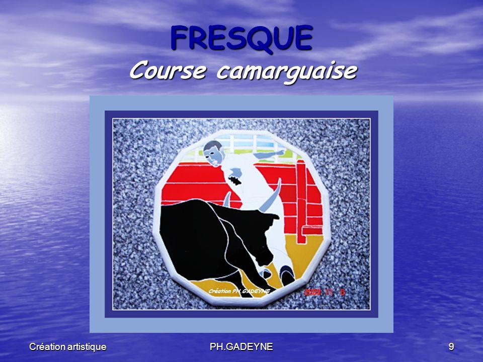 Création artistiquePH.GADEYNE9 FRESQUE Course camarguaise Création PH.GADEYNE