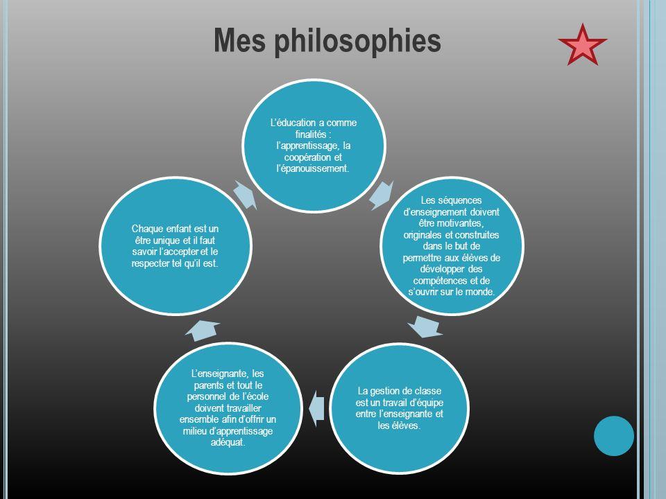 Léducation a comme finalités : lapprentissage, la coopération et lépanouissement. Les séquences denseignement doivent être motivantes, originales et c