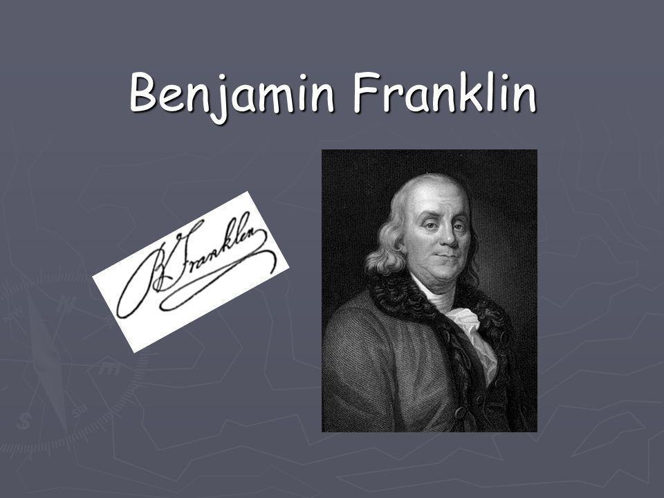 Son enfance Benjamin Franklin, cadet d une famille de 17 enfants est né 17 janvier 1706 à Boston, Benjamin Franklin s initie très tôt au journalisme en se faisant anonymement publier dans le journal de son frère James.