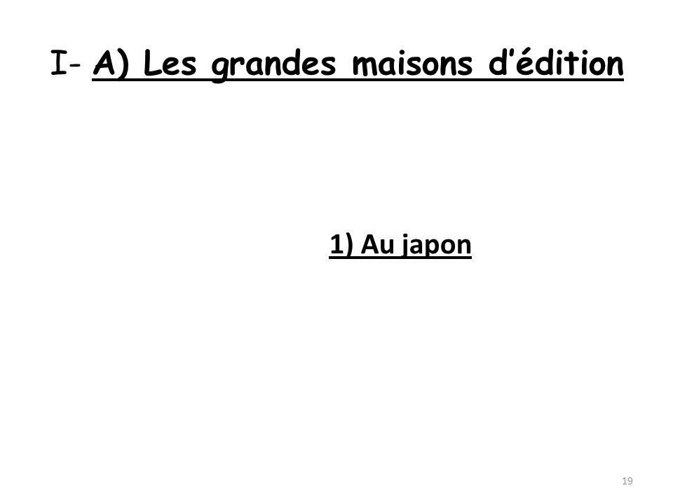 I- A) Les grandes maisons dédition 1) Au japon 19