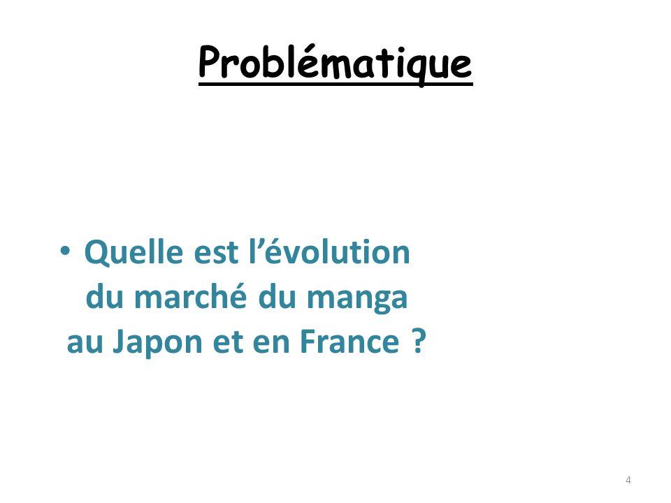 Problématique Quelle est lévolution du marché du manga au Japon et en France ? 4
