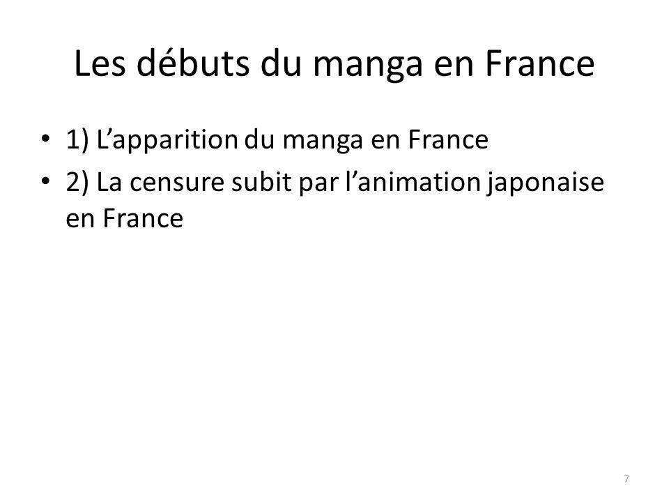 1) Lapparition du manga en France 2) La censure subit par lanimation japonaise en France 7