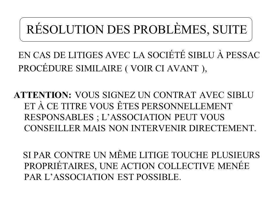 RÈGLEMENTATION AFIN DE CONTRER LINFLATION DES EXIGENCES RÈGLEMENTAIRES SIBLU VEUT ENFIN APPLIQUER CE QUE NOUS RÉCLAMONS DEPUIS 2005.