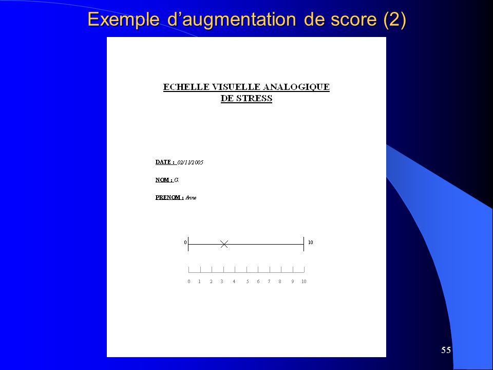 55 Exemple daugmentation de score (2)