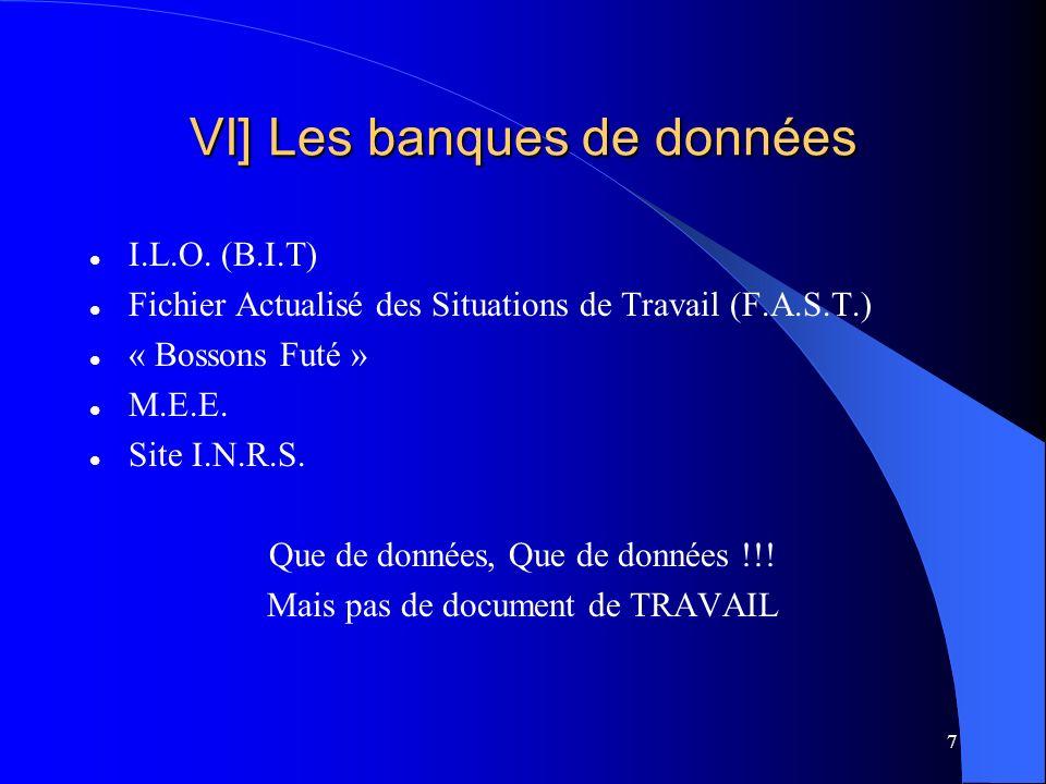 7 VI] Les banques de données I.L.O.