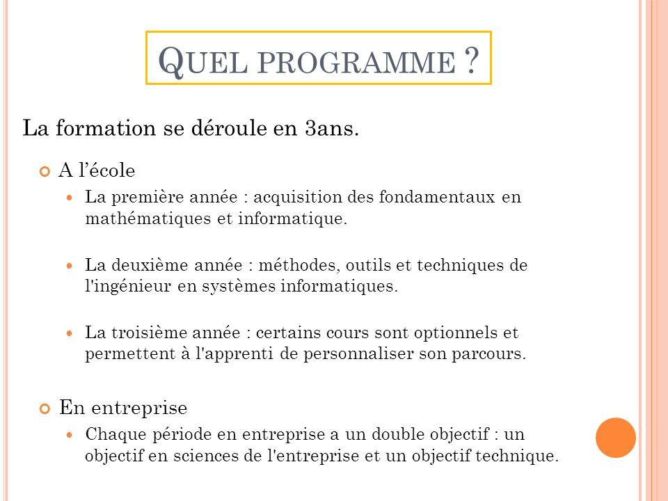 A lécole La première année : acquisition des fondamentaux en mathématiques et informatique.