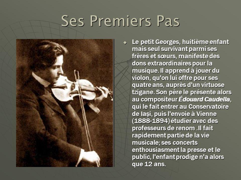 Ses Premiers Pas Le petit Georges, huitième enfant mais seul survivant parmi ses frères et sœurs, manifeste des dons extraordinaires pour la musique.