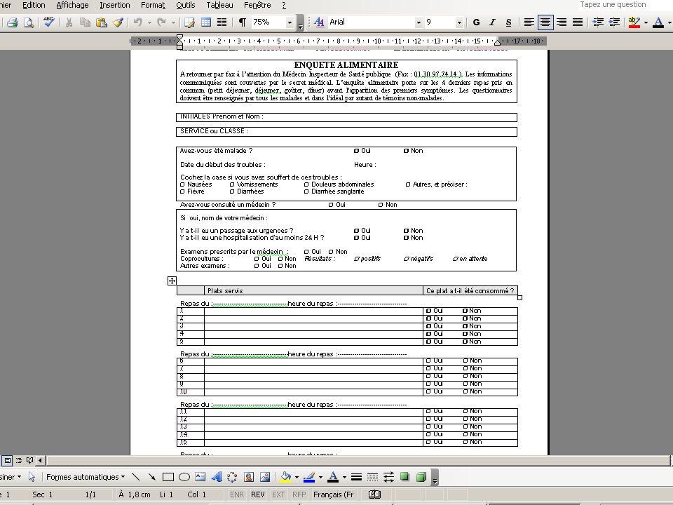 9/02/10 - 15/40La veille sanitaire et la pratique quotidienne - DDASS 78 TIAC enquête épidémiologique Objectifs –valider le signalement –trouver lalim