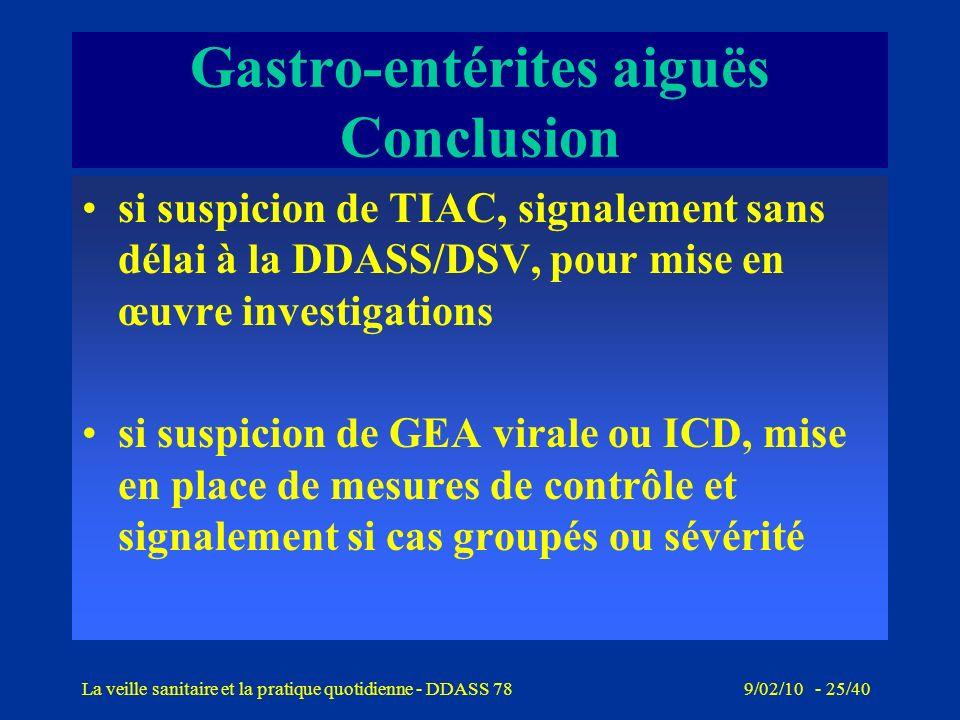 9/02/10 - 24/40La veille sanitaire et la pratique quotidienne - DDASS 78 Infections à Clostridium difficile Emergence de cas groupés nosocomiaux O27 e
