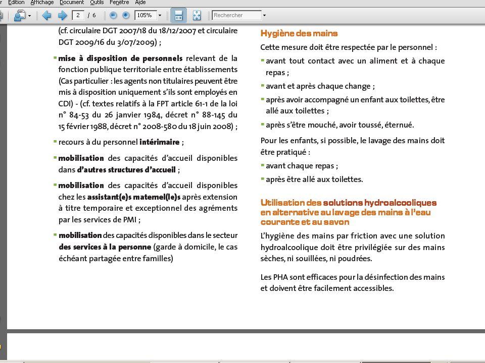 9/02/10 - 38/40La veille sanitaire et la pratique quotidienne - DDASS 78 Mesures d hygiène Infections respiratoires