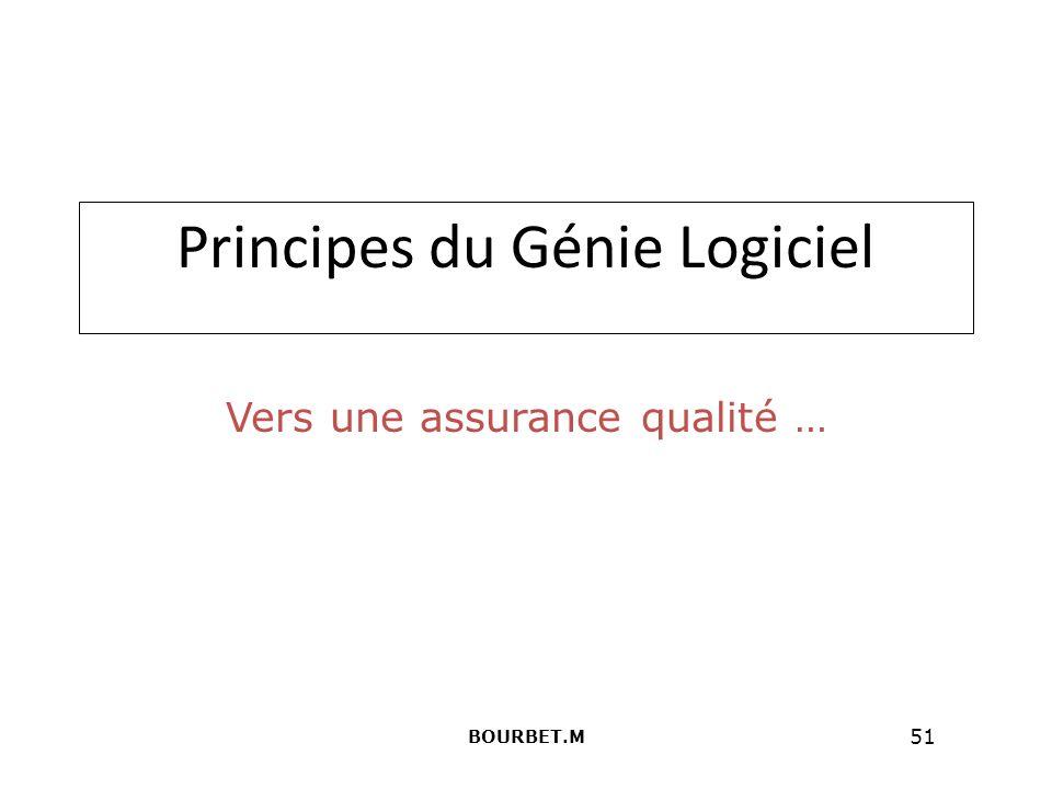 51 Principes du Génie Logiciel Vers une assurance qualité … BOURBET.M