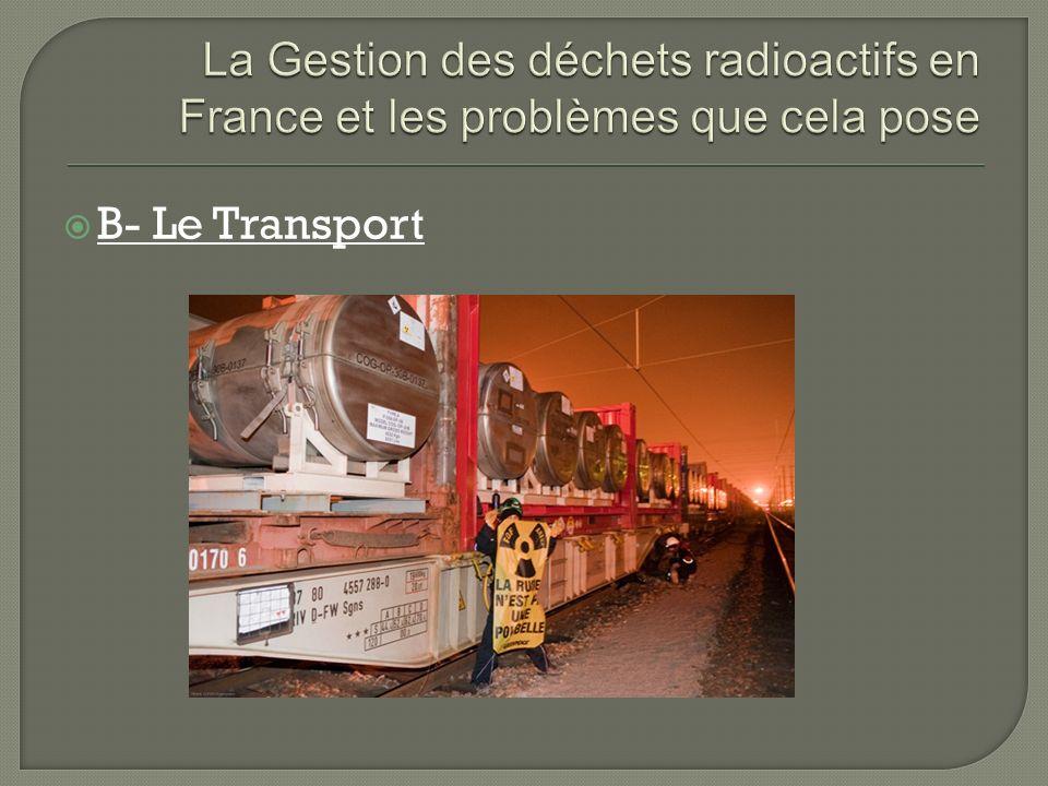 B- Le Transport
