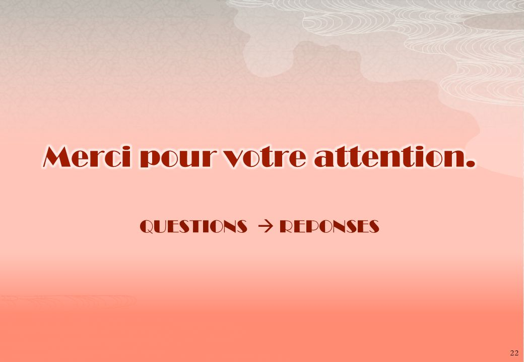 QUESTIONS REPONSES 22