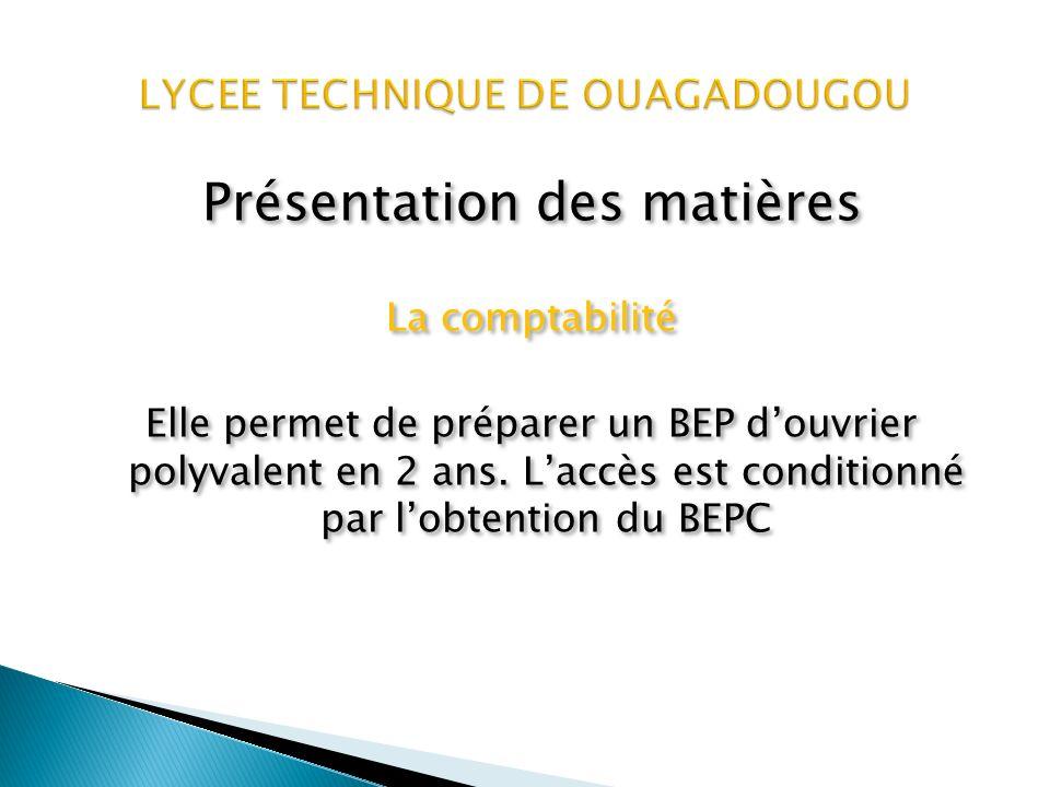 Présentation des matières Le baccalauréat secrétariat Permet de préparer un diplôme de technicien en 2 ans.