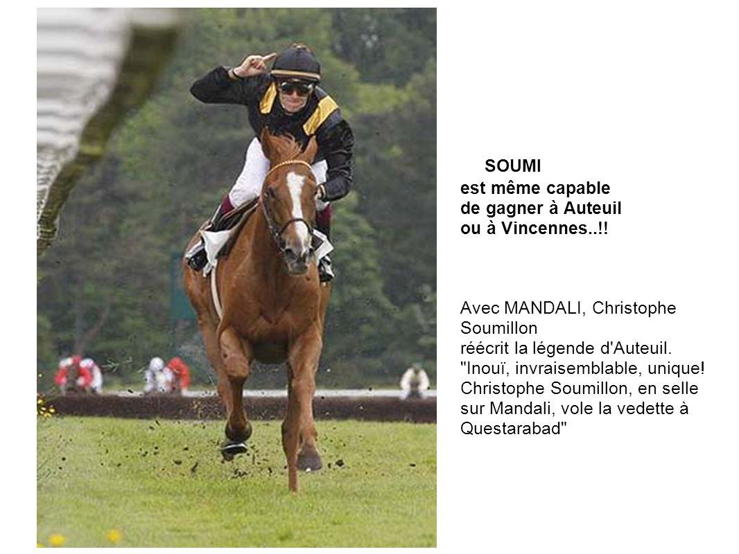 SOUMI est même capable de gagner à Auteuil ou à Vincennes..!! Avec MANDALI, Christophe Soumillon réécrit la légende d'Auteuil.
