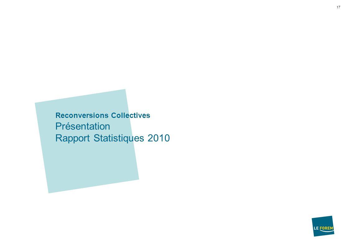 17 Reconversions Collectives Présentation Rapport Statistiques 2010