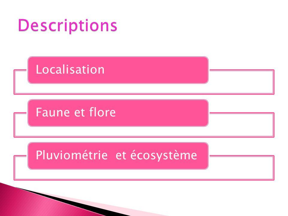 LocalisationFaune et florePluviométrie et écosystème