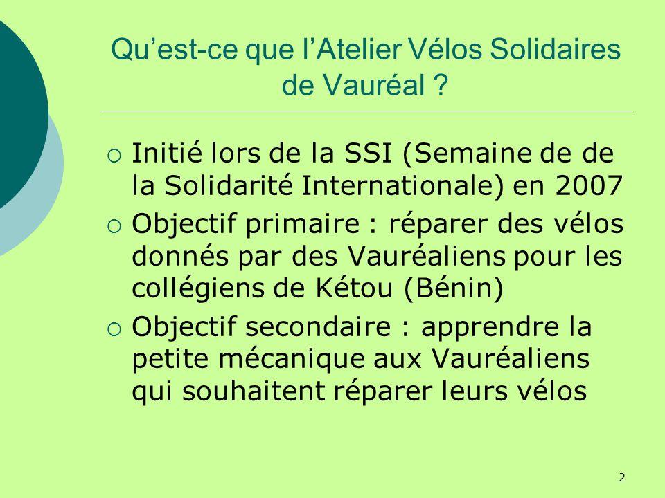 2 Quest-ce que lAtelier Vélos Solidaires de Vauréal .