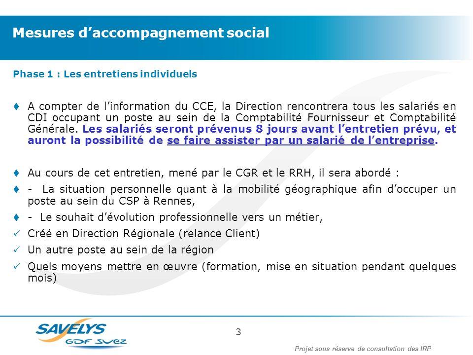 Phase 1 : Les entretiens individuels A compter de linformation du CCE, la Direction rencontrera tous les salariés en CDI occupant un poste au sein de