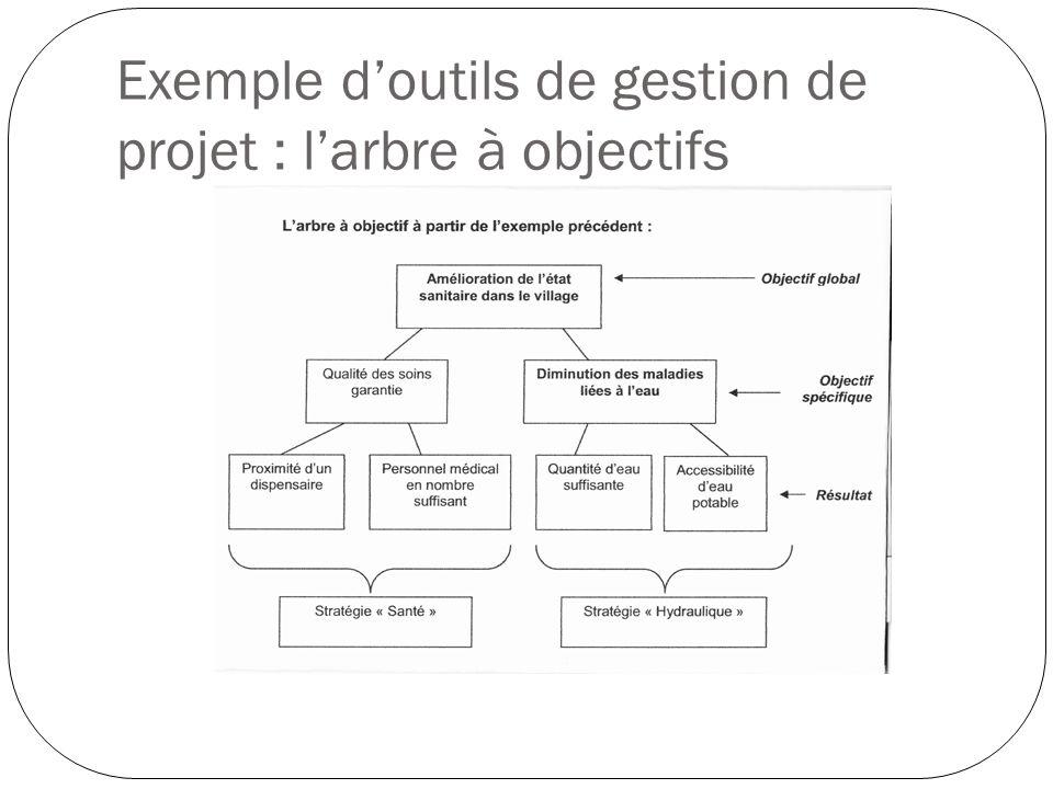 Exemple doutils de gestion de projet : larbre à objectifs