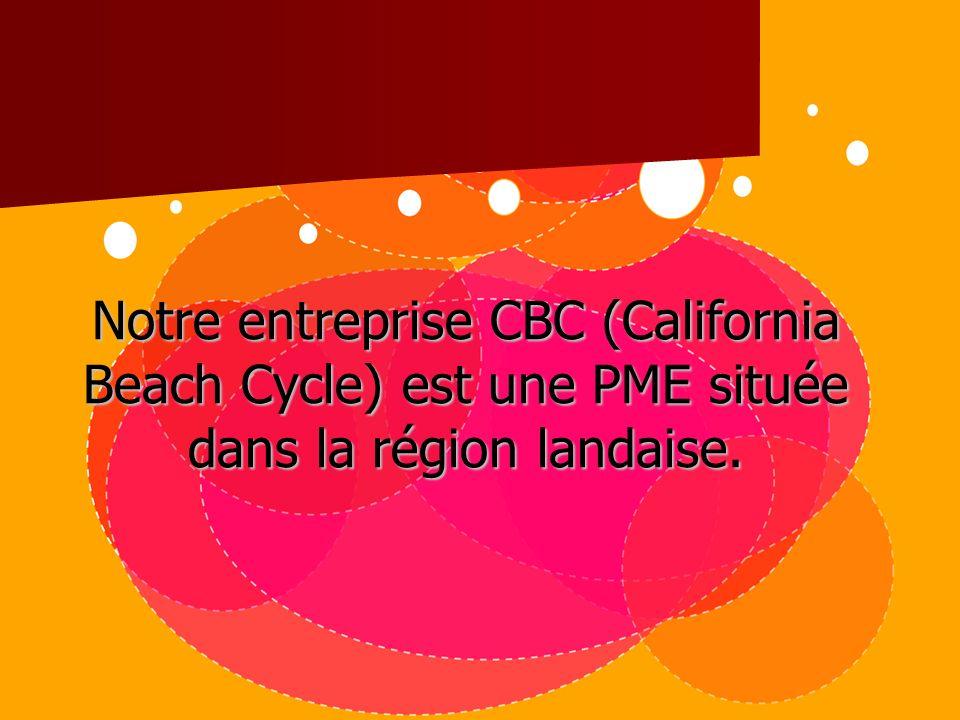 Notre entreprise CBC (California Beach Cycle) est une PME située dans la région landaise.