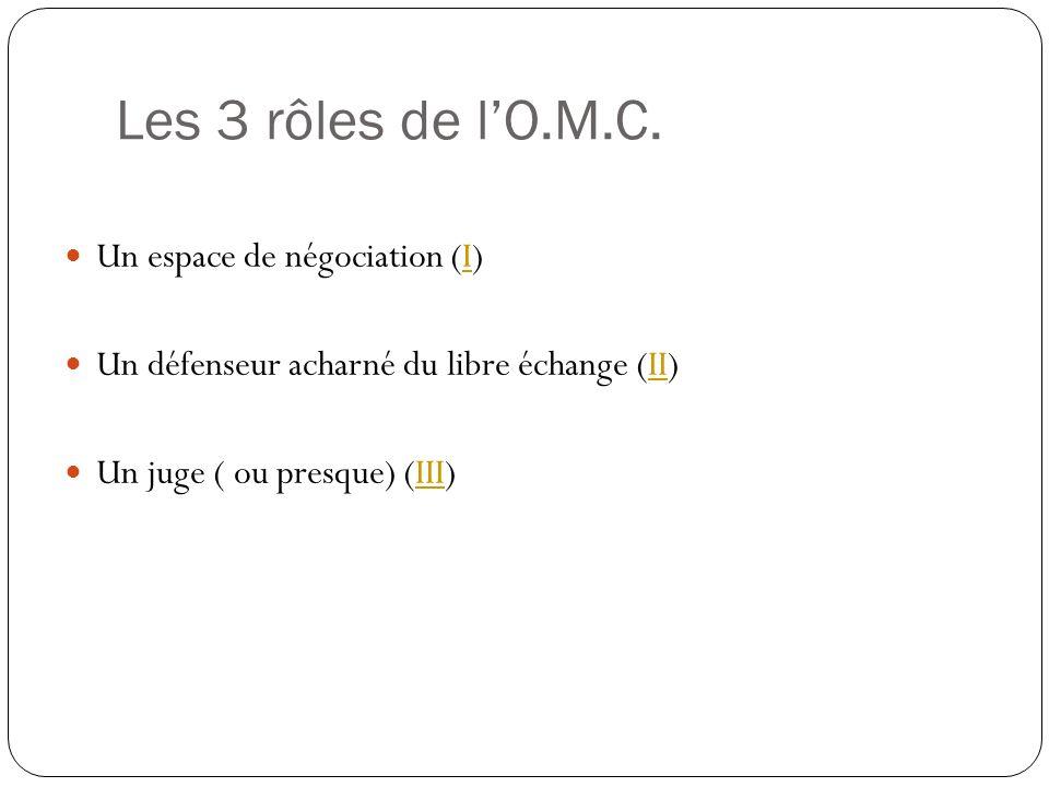 Les 3 rôles de lO.M.C.