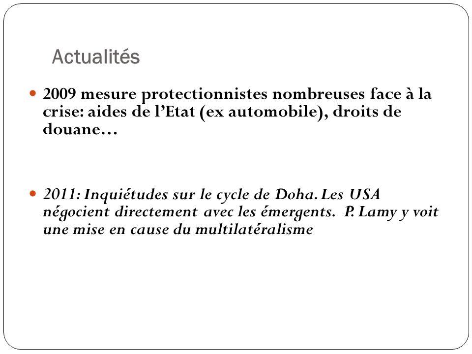 Siège, Genève Créée le 1er janvier 1995 par les accords de Marrakech Succède au GATT créé en 1947 150 membres en 2007 Directeur Général, Pascal Lamy, un français Fiche signalétique de lOMC