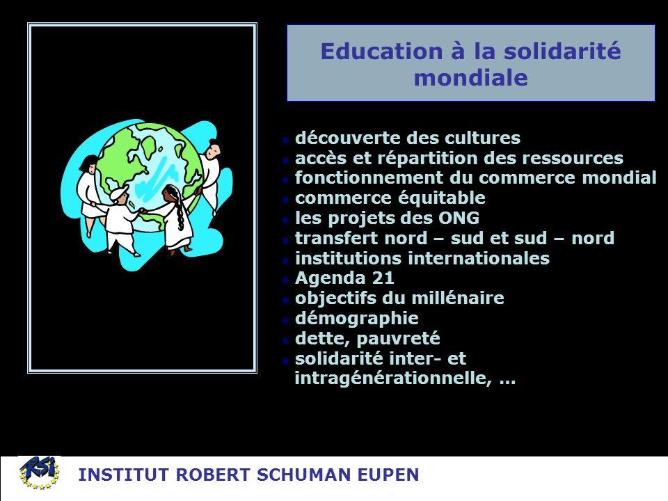 Education à la solidarité mondiale découverte des cultures accès et répartition des ressources fonctionnement du commerce mondial commerce équitable l