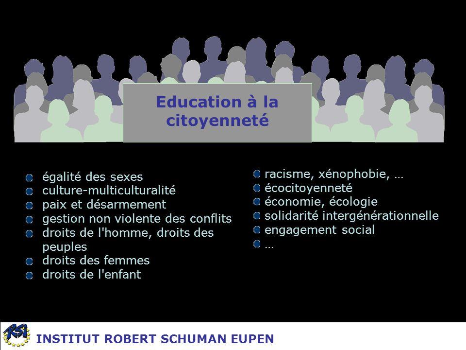 égalité des sexes culture-multiculturalité paix et désarmement gestion non violente des conflits droits de l'homme, droits des peuples droits des femm